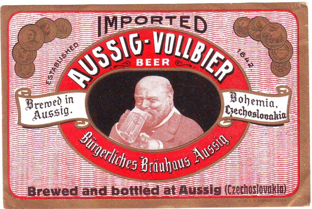 Etiketa Aussig Vollbier