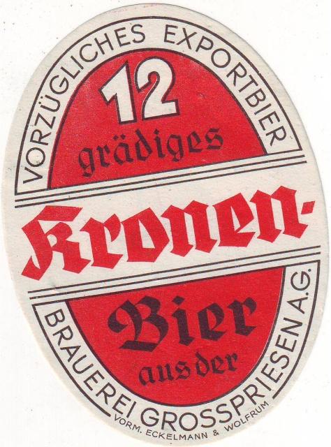 Etiketa Brauerei Grosspriesen