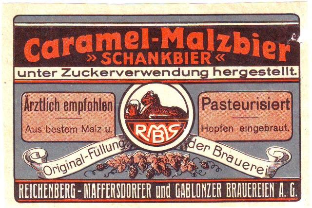 Etiketa caramel malzbier