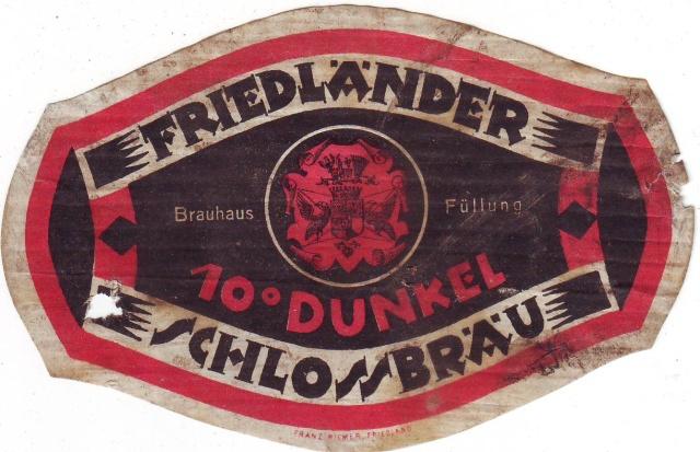 Etiketa Friedlander Schlossbrau
