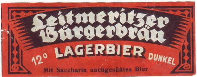 Etiketa Leitmeritzer Burgerbrau