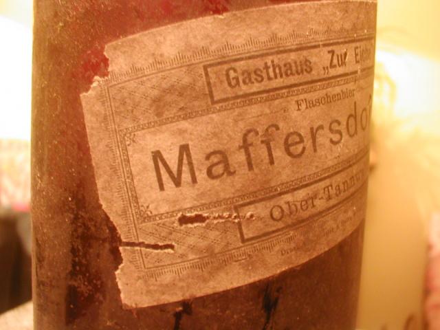 Pivní etiketa Maffersdorf