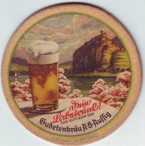 Pivní tácek Sudetenbrau Aussig