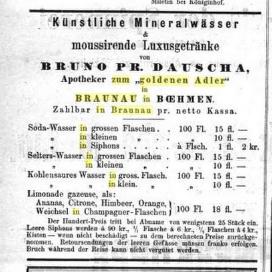 B. DAUSCHA 1872. Sodova voda.