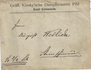 GRAFL.KINSKY BRAUREI PIHL 1900
