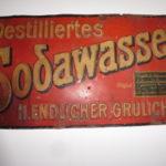 Reklamní cedule sodovkárna Heinrich Endlicher Králíky