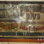 Parostrojní pivovar v Doxanech – reklamní cedule