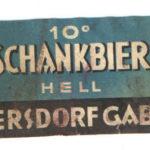 Stará etiketa pivovar Vratislavice 10 ° světlé cca 1935