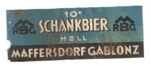 etiketa Maffersdorf 101 hell