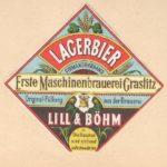 Stará pivní etiketa – pivovar Kraslice