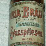 Velmi stará etiketa BAVARIA BRAUEREI GROSSPRIESEN