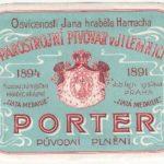 Stará etiketa parostrojního pivovaru v Jilemnici cca 1900