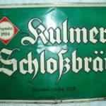 Reklamní cedule pivovar Chlumec u Ústí n.L.