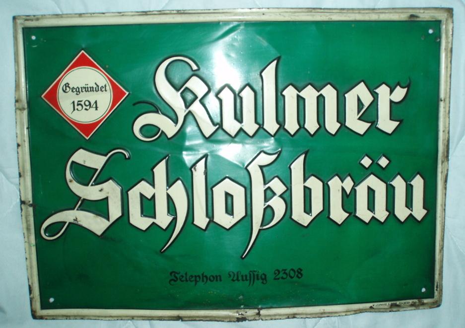 Reklamní cedule pivovar Chlumec