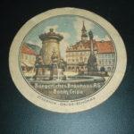 Pivní podtácek měšť. pivovaru Česká Lípa z r 1939