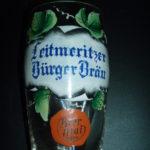 Malovaná sklenka na litoměřické pivo