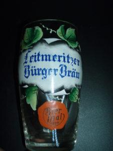 Malovaná sklenice Leitmeritz