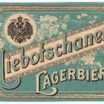Stará pivní etiketa pivovaru Libočany