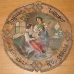 Reklamní cedule z likérky Josefa Eduarda Puschnera v Libouchci