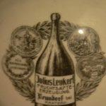 Reklamní popelník fy. Julius Leukert Nová Ves u Chrastavy