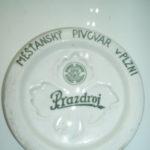 Porcel.podtácek měšťanského pivovaru v Plzni