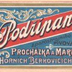 Staré pivní etikety – Pivovar Horní Beřkovice