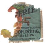 Velmi stará etiketa od sodovky Joh.Röttig Česká Lípa !!!