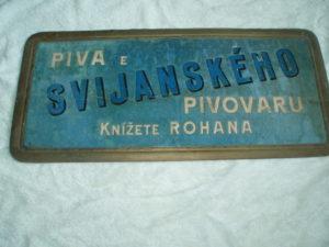 Reklamní kartonová cedule knížecí pivovar Svijany