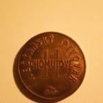 Účelová známka z Měšťanského pivovaru Chomutov 1 L