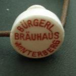 Porcelánový pivní patent BURGERL.BRAUHAUS WINTERBERG